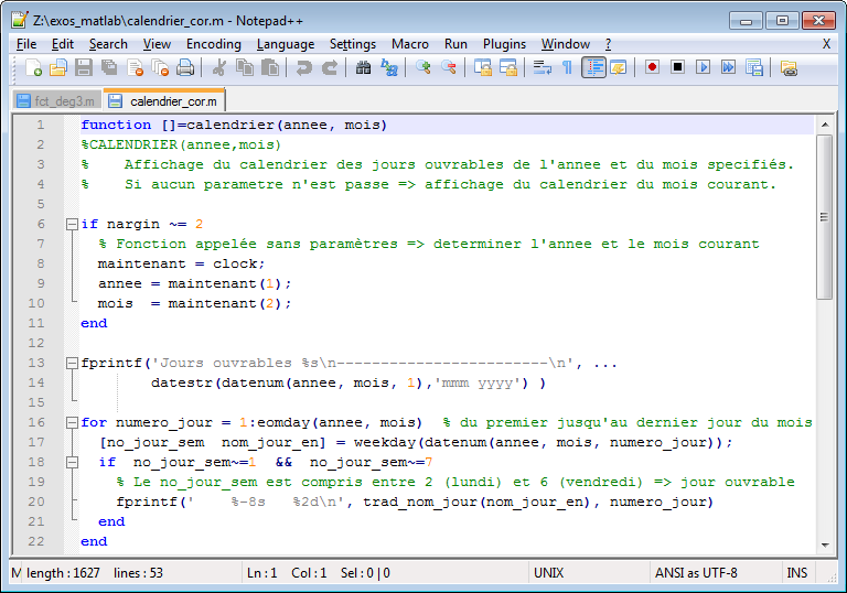 MATLAB et Octave - 7  Programmation : interaction