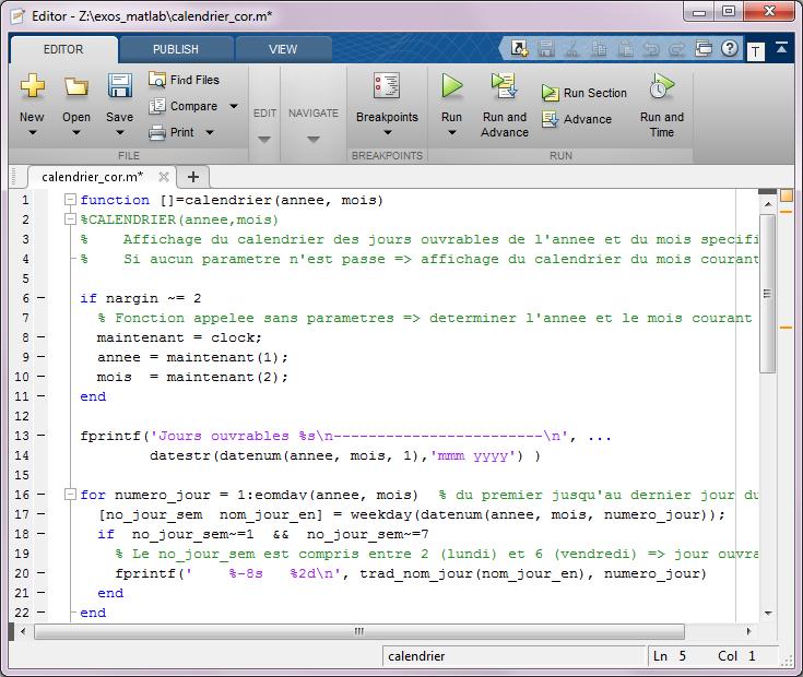 Matlab Et Octave 7 Programmation Interaction Structures De